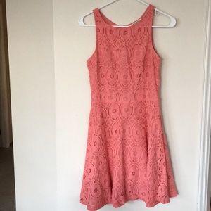 "BB Dakota Pink Dress ""Renley"" Lace fit and flare"